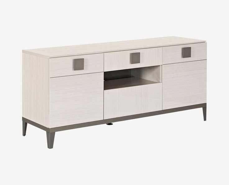 Scandinavian Designs - Complete your stylish, transitional space with the Monchiaro TV bench. The low profile is at-home in casual, lounge-like rooms. Three cabinets offer cord management and an adjustable shelf, and three drawers are perfect for storing remotes, manuals, and more.