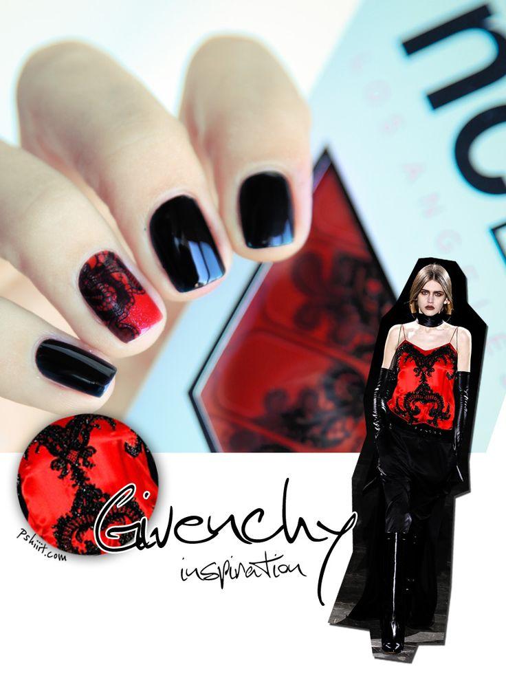 NCLA Nail Wrap // Manucure inspirée par Givenchy