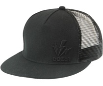 Flat Caps are all the rage at the moment and this Dozer black one is also very stylish. The snap back allow the size to be adjusted and the mesh back keeps the head cool. $17.50