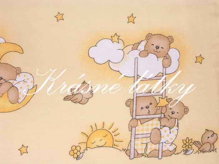 Medvídek - příjemné bavlněné plátno na dětské povlečení