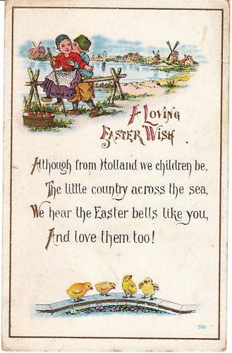 59 best dutch greetings images on pinterest vintage postcards vintage postcard easter dutch children and chicks 1917 holiday card chicken ebay m4hsunfo