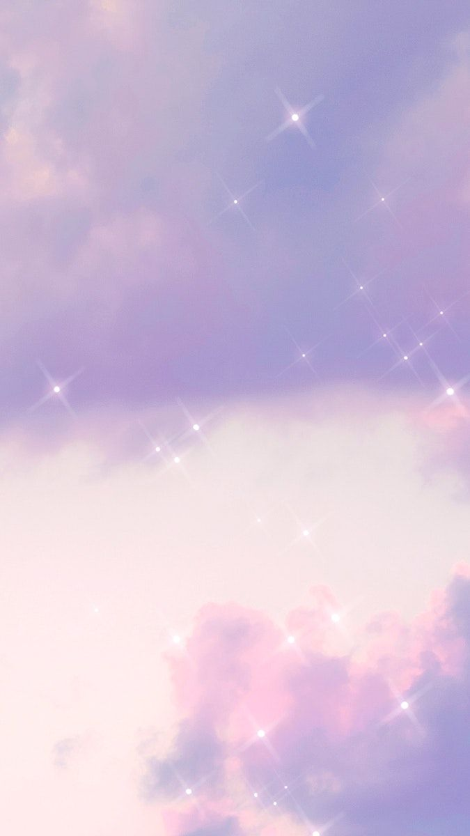 Cloudy Sky Pattern Sparkle Background Free Image By Rawpixel Com Ningzk V Iphone Wallpaper Sky Aesthetic Iphone Wallpaper Aesthetic Pastel Wallpaper Cute purple aesthetic wallpaper clouds