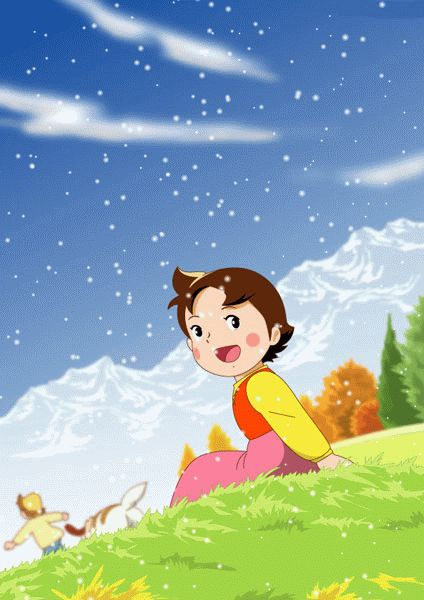 Christmas Special animated Heidi wallpaper  http://heidicartoon.blogspot.in