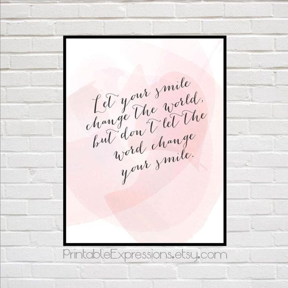 Pretty in Pink - Calligraphy Art Quote. Perfect wall décor for little girls room.