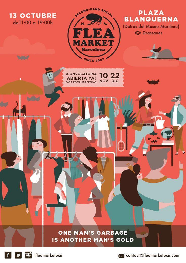 Flea Market Poster Google Search Graphic