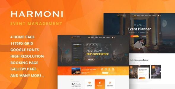 Harmoni Event Management Html Template Event Management Event Management Company Psd Templates