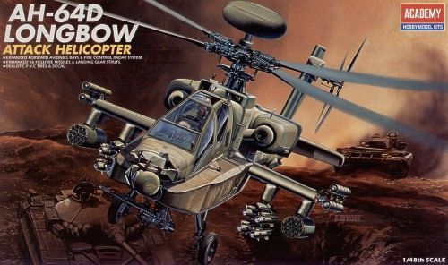 Boeing AH-64D Longbow Apache. Academy, 1/48, injection, No.12268. Price: 12,13 GBP.