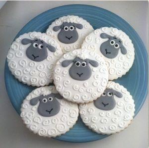 Little Lamb Cookies, Lamb Baby Shower Party Favors