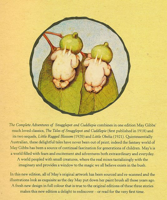 Snugglepot and Cuddlepie (back cover detail), via Flickr