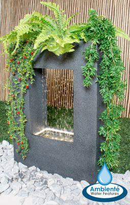 "Ambienté™ Bepflanzbarer Wasserfall-Brunnen ""Milano"" mit LED-Beleuchtung, 77cm x 55cm"