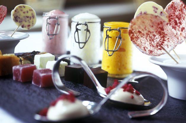Dessert Tasters, Fischer's Baslow Hall, Derbyshire, UK.  1 Michelin Star