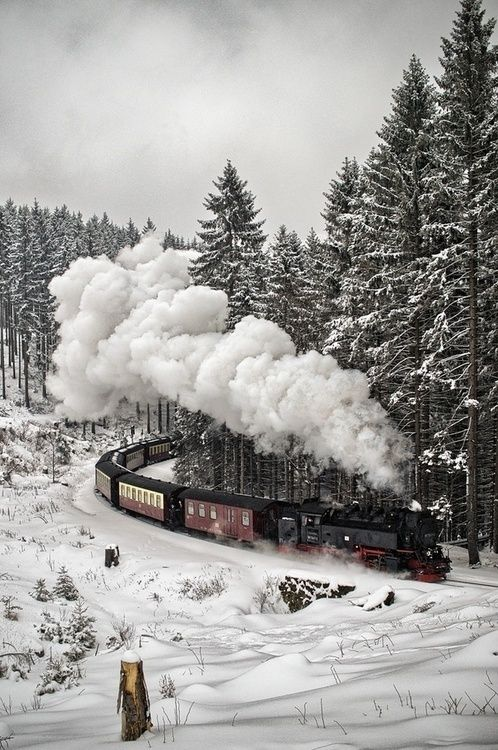 Imagen de winter, train, and snow