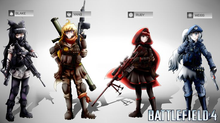 battlefield_4__rwby_squad_by_ssgt_lulz-d6vtipl.png (1600×896) This would be awesome!!! TOtally need Female Characters in BF4