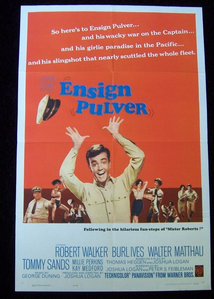 ENSIGN PULVER WWII Navy South Pacific Comedy ROBERT WALKER JR 1sh MOVIE POSTER