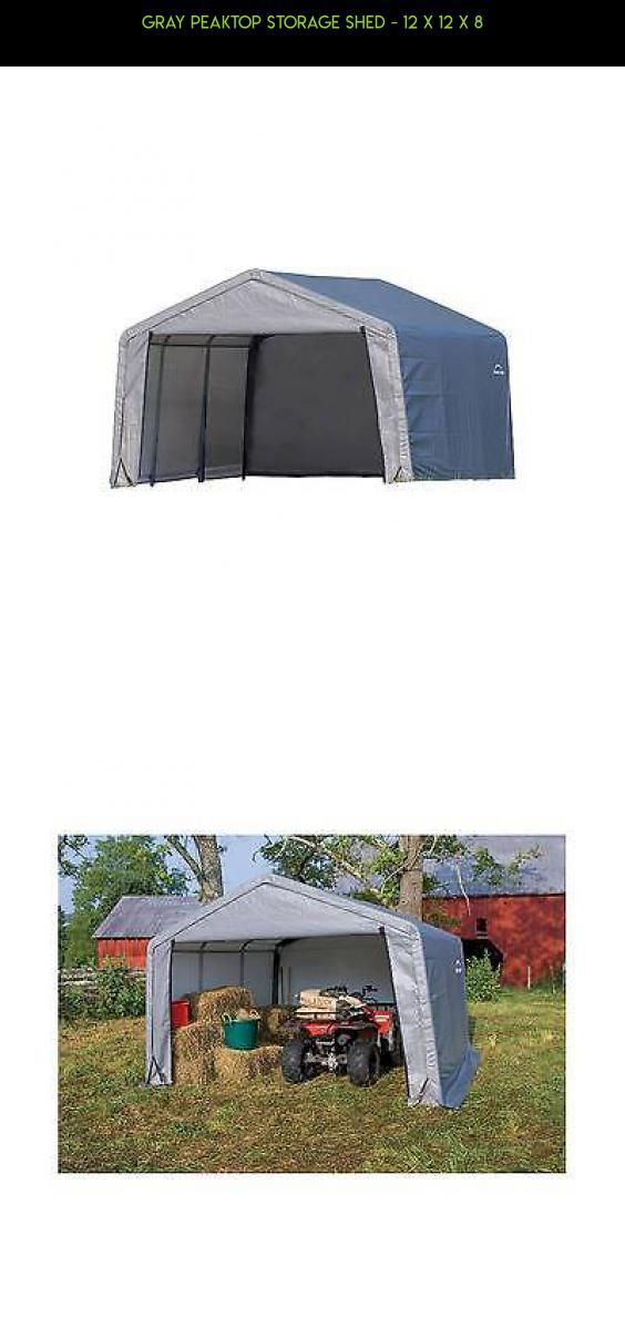Gray Peaktop Storage Shed - 12 x 12 x 8 #kit #technology #tech #products #gadgets #storage #parts #racing #fpv #camera #plans #shopping #12x12 #drone #12x12ShedPlan