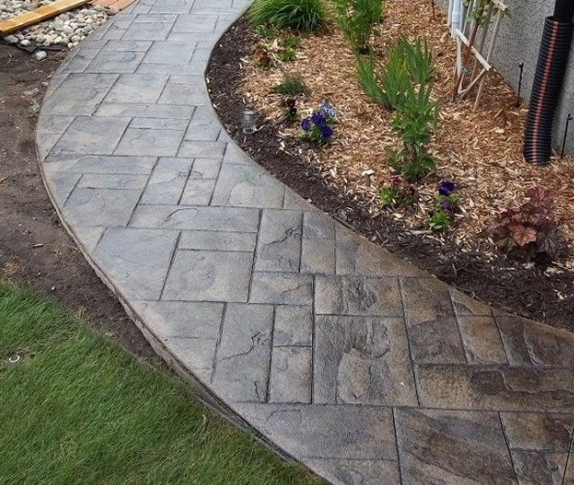 Ideas For Old Cement Patio: The 25+ Best Stamped Concrete Walkway Ideas On Pinterest