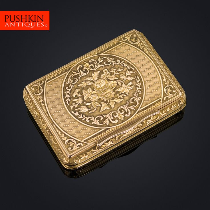 ANTIQUE 19THC CONTINENTAL 18K SOLID GOLD SNUFF BOX C.1820