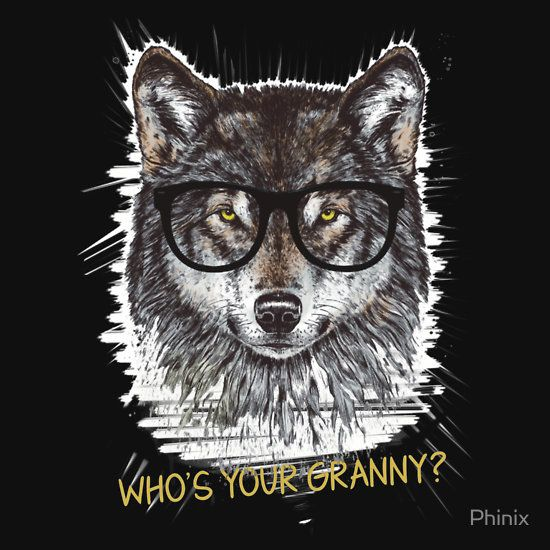 Nerd Wolf Who's your granny