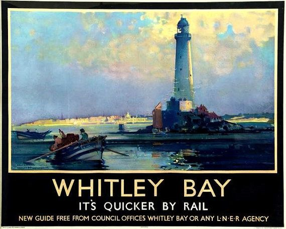 Whitley Bay Lighthouse Northumberland England by BloominLuvly