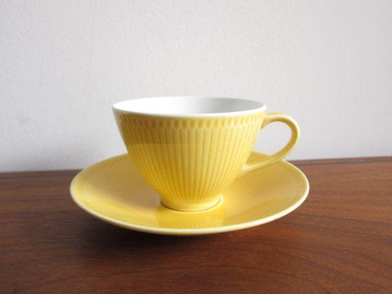 Rorstrand Capri Cup and Saucer Hertha Bengtson by ModernSquirrel, $35.00