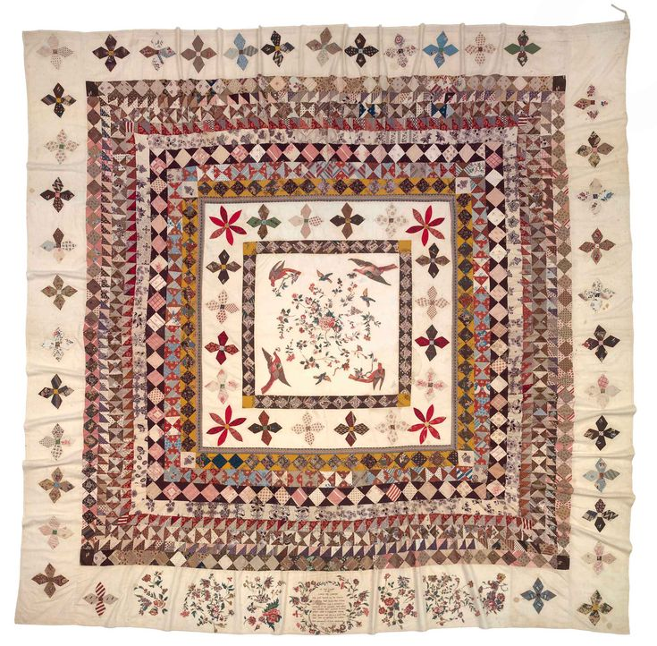 The Rajah quilt, sewn by convict women on board HMS Rajah during their transportation to Van Diemen's Land in 1841.