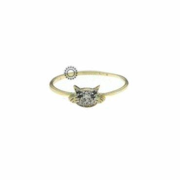 Ένα χαριτωμένο δαχτυλίδι γατάκι γυναικείο ή παιδικό σε χρυσό Κ14 με ζιργκόν. Αποστολή εντός 24 ωρών. Συνοδεύεται από εγγύηση ποιότητας. #γατα #ζιργκον #χρυσο #δαχτυλίδι