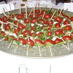 Insalata Caprese Kebabs Christmas Open HouseGraduation FoodInsalata