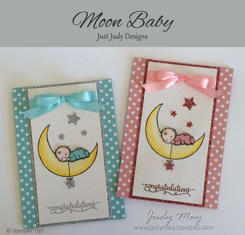 Moon Baby, So in Love, Subtles DSP, Shimmery White, Blushing Bride & Silver Glimmer Paper, Blushing Bride & Pool Party Stitched Ribbon, Rhinestones Tools    	Confetti Stars Border punch, Itty Bitty Accents Punch pack (retired), Copper & Silver EP, Heat gun, Stamp-a-ma-jig, Blushing Bride & Pool