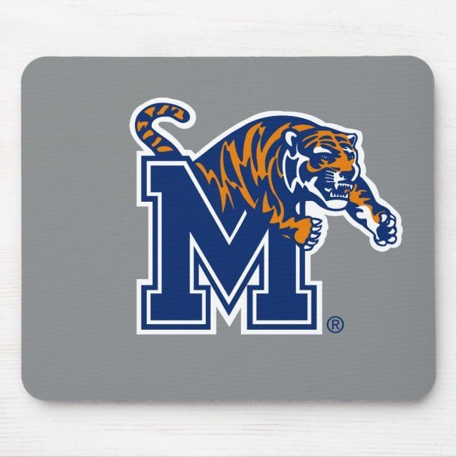 University Of Memphis Leaping Tiger Logo Mouse Pad Zazzle Com In 2020 Tiger Logo Memphis Tiger Design
