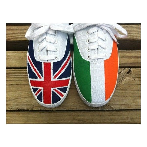 One Direction Flag Shoes ❤ liked on Polyvore