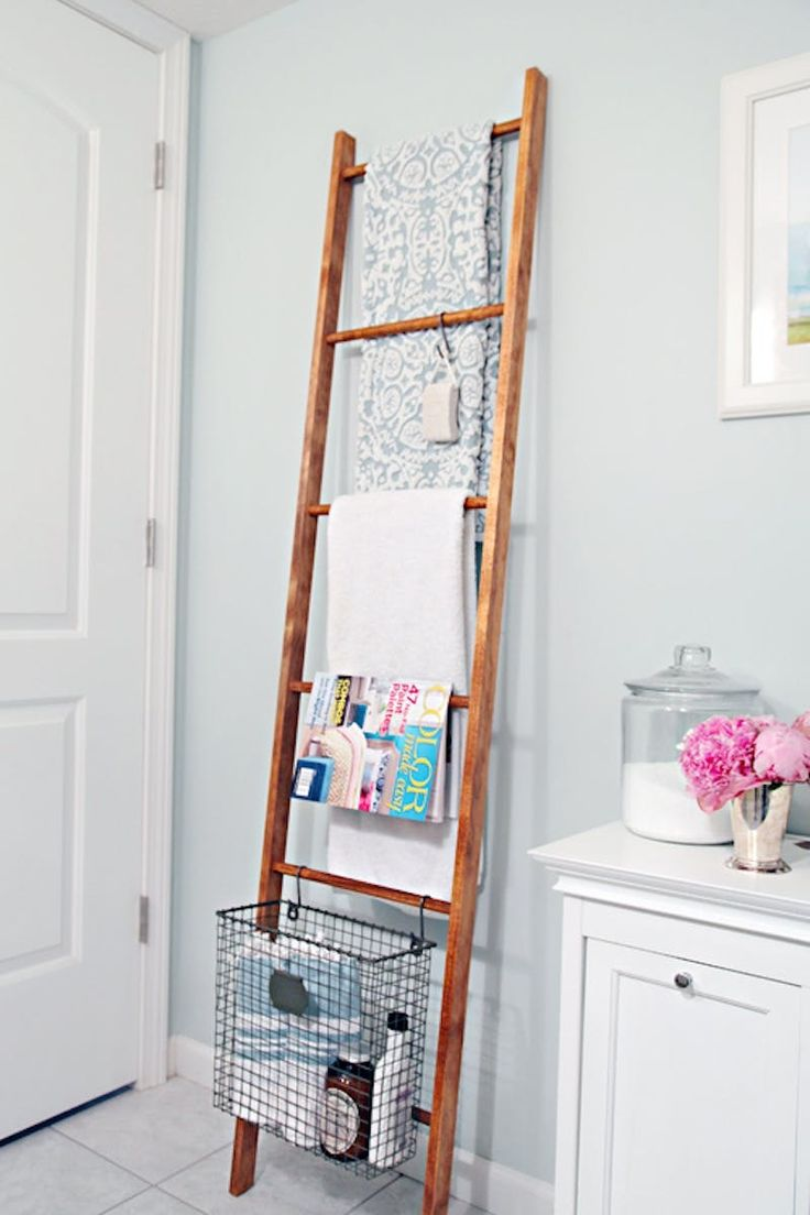 If you want to add personality to your rental bathroom—without drilling into the walls or painting over tile—the easiest solution is to craft projects that reflect your individual style. When these eye-catching DIYs also happen to double as storage or help organize an ever-growing collection of beauty products, you'll want to bring them along with you every time you move.