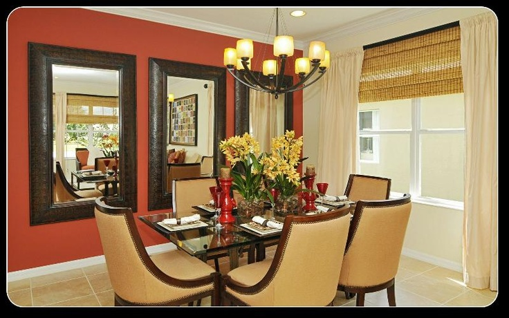 Dining Room Orange Accent Wall