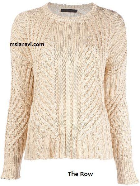 Вязаный пуловер из хлопка от The Row