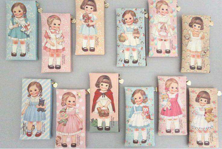 """""""Paper Doll Mate"""" Afrocat Pencil Case Multi Makeup Pouch 12 Colors   eBay"""