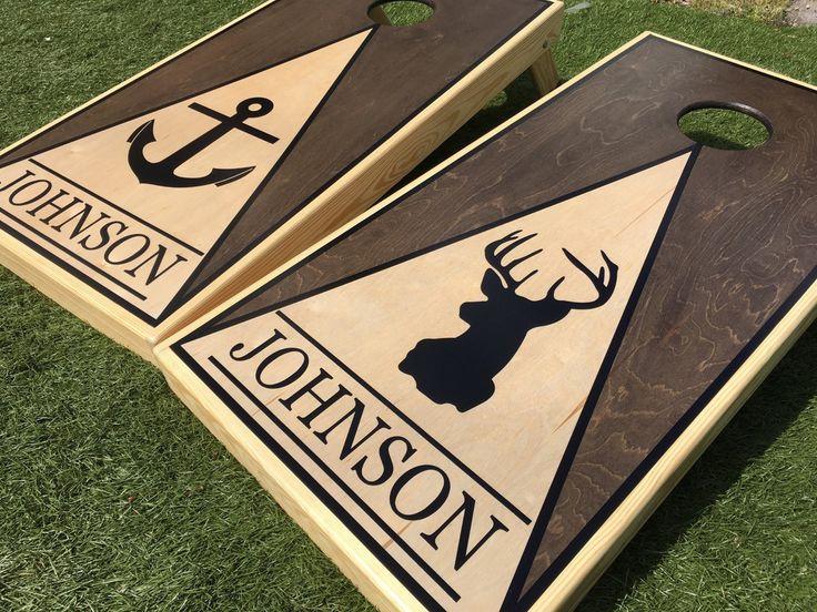 Deer and Anchor Custom Cornhole Boards - West Georgia Cornhole                                                                                                                                                                                 More