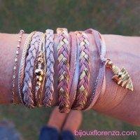 Bracelet Cheyenne Rose poudré doré