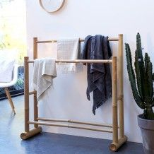 Porte serviette bambou Balyss                                                                                                                                                     Plus