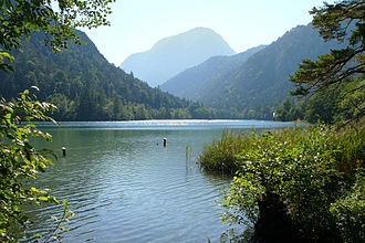 Lake Thumsee in Bad Reichenhall Germany - wonderful place to swim and enjoy the day!
