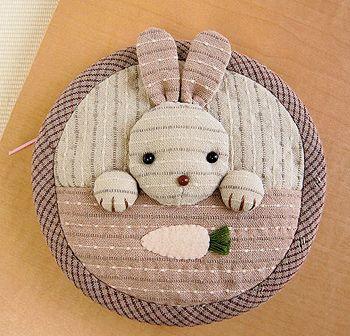 Japanese craft kits, Bunny bag purse