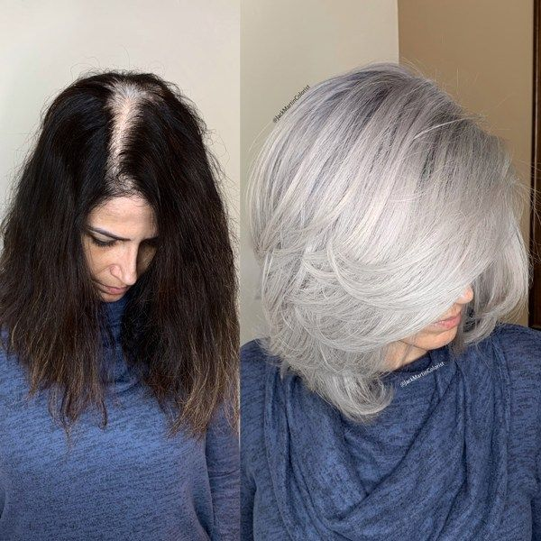 Box Dye Color Correction Sterling Silver Short Bob Cuts