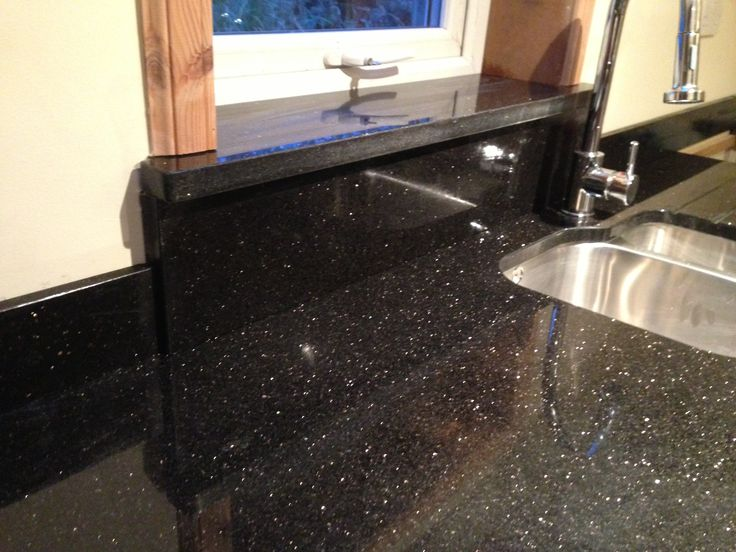 Star galaxy from rocca granite worktops hillington park for Kitchen worktop cutting template