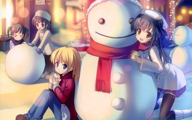 Pin On Holidays Wallpaper Christmas anime wallpaper 1920x1080