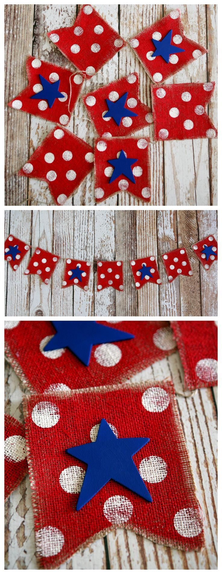 4th of July Burlap Banner | 4th of July Decoration Ideas