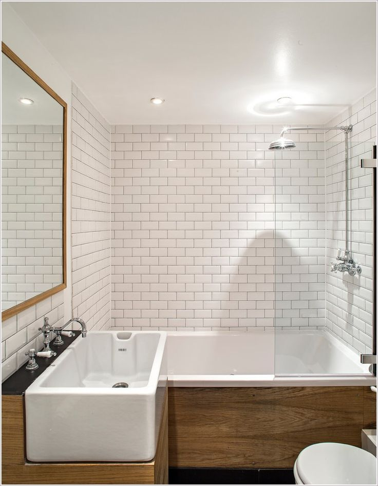 Wall Mounted Faucet with Widespread Double Vanity Mosaic Tile - kronleuchter für badezimmer