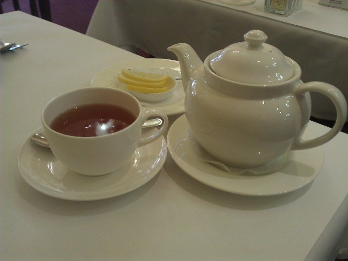 China Sencha Tea, Sugar 'N' Spice, Adelaide Street, CBD.  Gentler than its Japanese cousin. Soothing, vegetal with a well rounded mouthfeel.