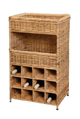 Ikea Aneboda Wardrobe Measurements ~ Weinregal  Flaschenregal für 12 Flaschen aus Kubu Rattan  http