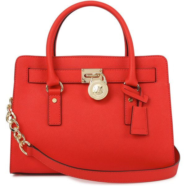 Michael Kors Hamilton Saffiano Leather Tote found on Polyvore