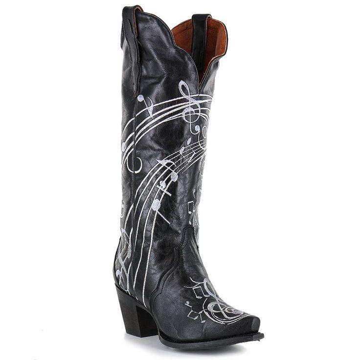 Dan Post Women S Treble Music Note Western Boots Western