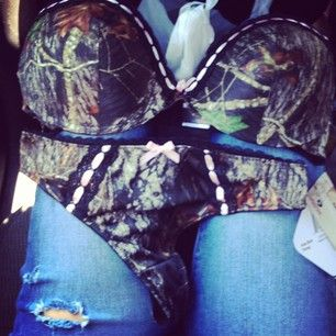 camo bra set. So cute would totally get this
