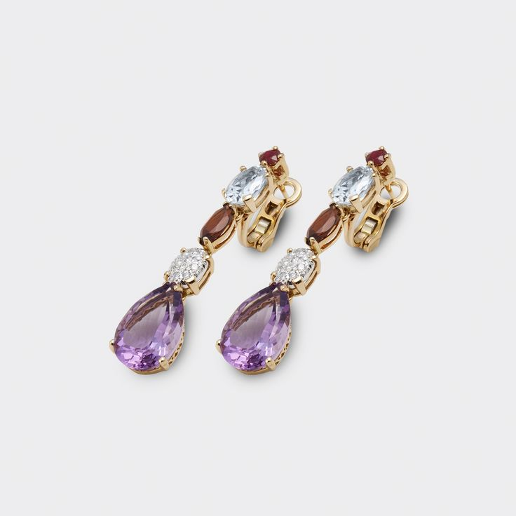 #earrings by pontevecchiogioielli with gold and precious stones